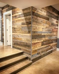 Another successful project by one of our clients using our reclaimed barn board for a feature wall. This one used a variety of tones with rustic brown grey and even a few faded red boards. Diy Pallet Wall, Pallet Walls, Palettes Murales, Barn Board Wall, Wooden Accent Wall, Custom Wood Furniture, Wood Supply, Rustic Wood Walls, Reclaimed Barn Wood
