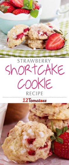 Strawberry Shortcake Cookies | These cookies have all the light, airiness of a biscuit, with the prerequisite touch of sweetness, along with the juicy, sweet strawberries that bring everything together.