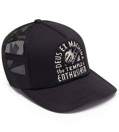 Deus Temple Trucker Cap Black
