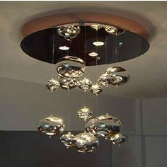 Modern Clear/Chrome Glass Bubbles Living Room Stair Case Ceiling Pendant Lights Lamp Dining Room Bar Counter Hotal Lobby Chandelier Fixtures (Small-Chrome) OUOVO http://www.amazon.ca/dp/B00KTX3YP6/ref=cm_sw_r_pi_dp_IaKQwb0CH591W