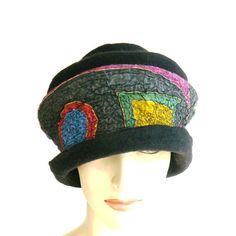 Felted Hat Felt Cap wool hat cloche hat for women by MajorLaura Women Hat 1e3b43daa586