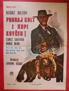 GUNS FOR DOLLARS 1971 GEORGE HILTON CHARLES SOUTHWOOD UNIQUE EXYU MOVIE POSTER