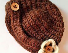 Bascuta crosetata Floare Beanie, Hats, Fashion, Tricot, Moda, Hat, Fashion Styles, Beanies, Fashion Illustrations