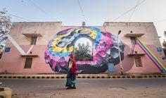 NEVERCREW - New Delhi - India - 2016 #StreetArt #Mural