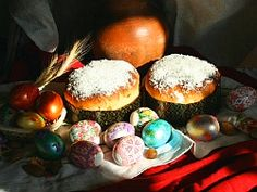 Russian Orthodox Easter Goodies Orthodox Easter, Russian Orthodox, Orthodox Christianity, Easter Celebration, Holidays And Events, Romania, Childhood Memories, Celebrations, Religion
