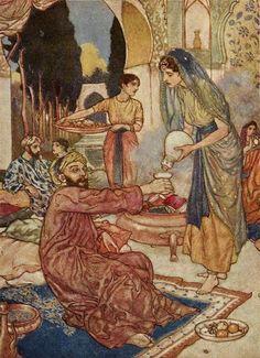 Edmund Dulac Art Illustrations to The Rubaiyat.