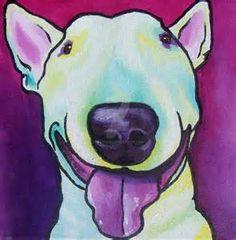 DOG ART Miniature Bull Terrier Art PRINT By HeatherGallerArt - Bull terrier art