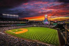 ROCKIES: COORS FIELD A Summertime favorite--take me out to the ball game!