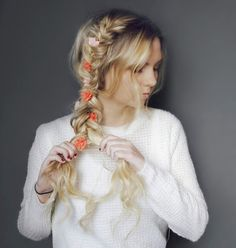 Kassinka Hair Tutorial using Flower Child Hair accessory in Orange-Nude available at flowerchildhair.com