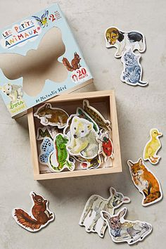 Illustrated Creatures Magnets - anthropologie.com