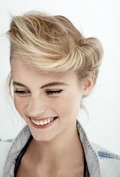 a fun up do for every day or parties. #hairinspiration
