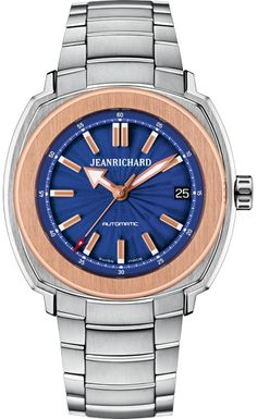 Discover the JEANRICHARD watches official website. Creative craftsmanship since JEANRICHARD turns time into an art of living, a philosophy. Jean Richard, Omega Watch, Rolex, Watches For Men, Blue, Stuff To Buy, Accessories, Clocks, Top Mens Watches