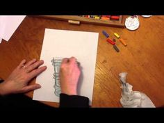 How to Draw an Olympic Torch: Video Demonstration of How Quick, Fun and Successful Chalk Pastels Are!