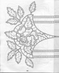 ru / Фото - 56 - Cutwork Pattern for Hand Embroidery Silk Ribbon Embroidery, Vintage Embroidery, Cross Stitch Embroidery, Hand Embroidery, Machine Embroidery, Lace Patterns, Embroidery Patterns, Point Lace, Cut Work