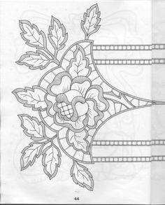 ru / Фото - 56 - Cutwork Pattern for Hand Embroidery Cutwork Embroidery, White Embroidery, Vintage Embroidery, Cross Stitch Embroidery, Lace Patterns, Embroidery Patterns, Machine Embroidery, Point Lace, Sewing Art