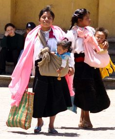 Mayan babywearing