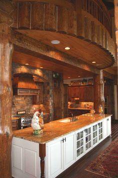 log homes architect     My kitchen... just love it !!