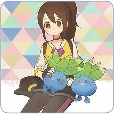 ♥ Girl... Female Protagonist... Pokémon... Pokémon GO!... Brown Hair... Anime ♥