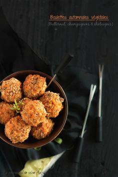recette boulettes végétales - butternut champignons noix châtaignes