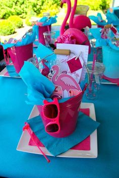 Check out the cool party favors at this flamingo themed pool party! See more par. - Check out the cool party favors at this flamingo themed pool party! See more party ideas and share - Pool Party Favors, Pool Party Themes, Pool Party Kids, Pool Party Decorations, Pool Party Invitations, Party Ideas, Girl Pool Parties, Shower Favors, Shower Invitations