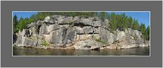Pictograph Cliff. Manitoba Norway House, Hudson Bay, Interesting History, Cliff, Archaeology, Mount Rushmore, Canada, Mountains, Water