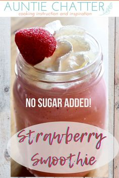 Perfect any time of day, this strawberry vanilla smoothie makes a great start to your morning as well as a delicious treat at the end of the day. Vanilla Smoothie, Strawberry Smoothie, Strawberry Desserts, Frozen Desserts, Food Replacement, Easy Healthy Smoothie Recipes, Yummy Smoothies, Homemade Cookies, Morning Food