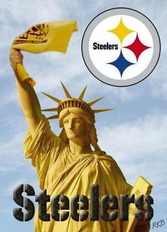 Statue of Steelers nation.I'm from Pittsburgh so you know what it is! Black and Yellow! Pitsburgh Steelers, Here We Go Steelers, Pittsburgh Steelers Football, Pittsburgh Sports, Steelers Stuff, Steelers Images, Pittsburgh Steelers Wallpaper, But Football, Football Baby