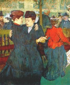 At the Moulin Rouge: Two Women Waltzing by Henri De Toulouse-Lautrec on Fine Art Biblio, a single source for art research and education. Henri De Toulouse Lautrec, Art Gay, Lesbian Art, Maurice Utrillo, Georges Seurat, Oil Painting Reproductions, Impressionist Art, Kandinsky, Renoir