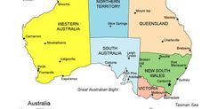 a map of australia clearly illustrating the states and territories and major cities australia is