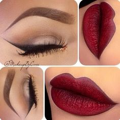 Smoked Out Liner Bold Lip   Make Up   Pinterest ❤ liked on Polyvore featuring beauty products, makeup, lip makeup, eye makeup, eyes and lipstick