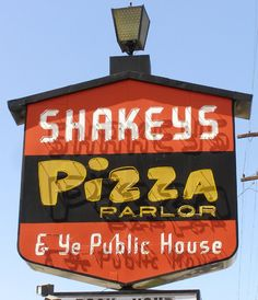Shakey's on Larpenteur and Snelling, next to Falcon Lanes and Clark's Submarine Sandwiches.