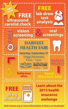 Teton Valley Health Care's Harvest Health Fair 2014 will be held Saturday, September 27 at Driggs Elementary School. #healthfair