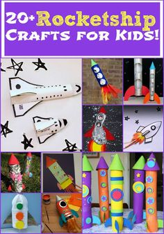 Rocket ship crafts for kids space activities for kids, space crafts preschool, outer space Crafts For Boys, Projects For Kids, Easy Crafts, Art For Kids, Craft Projects, Arts And Crafts, Outer Space Crafts For Kids, Space Kids, Craft Ideas
