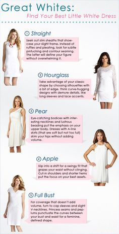 Great Whites - Find Your Best Little White Dress