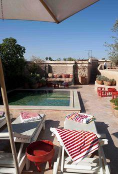 Roof top pool at El Fenn, Marrakech Photo credit: Liesbeth van der Wal