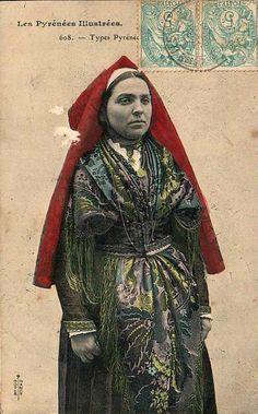Pyrénéenne. French Costume, Portraits, France, Pyrenees, Traditional Dresses, Hui, Images, Photos, Culture