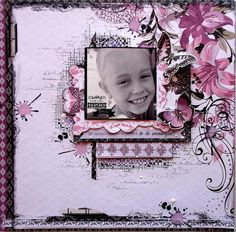 Kaisercraft - Viloet Crush - Rachael Funnell - Tuesday Tip - 2 toned stamping tutorial Scrapbooking Layouts, Scrapbook Pages, Crushed Paper, Scrapbook Background, Kids Pages, Ink Stamps, Wedding Scrapbook, General Crafts, Layout Inspiration