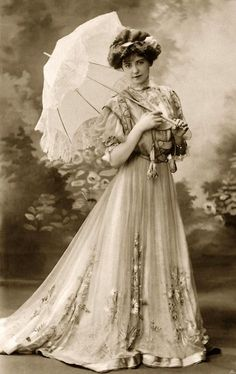 1800s Victorian dress and parasol, So feminine! (couldn't resist putting this pin within this board)