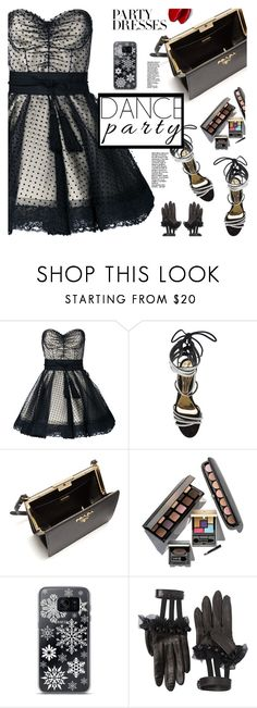 """""""#PolyPresents: Party Dresses"""" by samra-bv on Polyvore featuring Marc Jacobs, Alexandre Vauthier, Prada, Laura Mercier, Samsung, Gucci, Balmain, contestentry and polyPresents"""