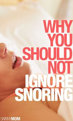 If you snore, this is a must read.