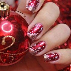 Wundervolle Nageldesign Ideen für Weihnachten und Silvester