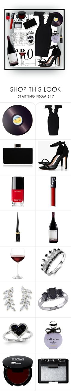 """""""PROME NIGHT1"""" by missnastasya ❤ liked on Polyvore featuring Joseph Joseph, Boohoo, Chanel, Christian Louboutin, Nordstrom, Carolee, Miadora, Kevin Jewelers, Kate Spade and NARS Cosmetics"""