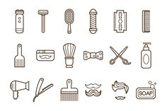 Barber Shop or Hairdresser icons by TopVectors on Creative Market Mini Tattoos, Tatto Mini, Black Tattoos, New Tattoos, Small Tattoos, Tatoos, Future Tattoos, Cosmetology Tattoos, Hairdresser Tattoos