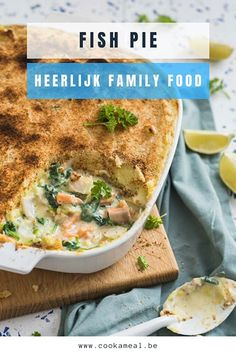 Fish Pie, Oven Dishes, Pinterest Recipes, Fish And Seafood, Good Food, Food And Drink, Favorite Recipes, Lunch, Healthy Recipes