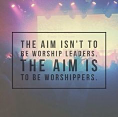Worshipers not Worship Leaders ~ Rend Collective