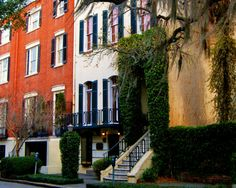 Travel Photography - Savannah Townhouses - Landscape, Urban, Architectural, Southern, Fine Art Photography
