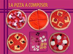 La pizza à composer #feutrine