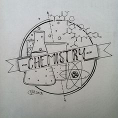 Chemie Illustration -e. 2018 - Chemie - Chemistry Informations Chemistry Drawing, Science Drawing, Chemistry Art, Science Art, Chemistry Tattoo, Chemistry Revision, Teaching Chemistry, Chemistry Lessons, Chemistry Experiments