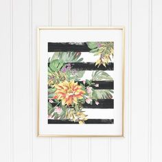 Orange Tropical Flower Print 1 from Shelby Dillon Studios is perfect for a beach house, or a home with a beach cottage look. For all your colorful home style needs and colorful decorating ideas shop ShelbyDillonStudios.com.