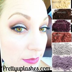 Plumtastic! Pretty Up Lashes presents Younique eye pigments in flirty, feisty, glamorous, vulnerable, innocent and infatuated. Available individually or in a money-saving collection at prettyuplashes.com